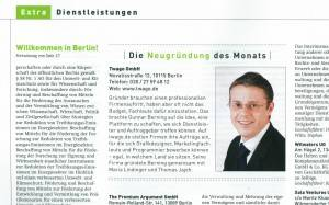 Berlin maximal: Start up of the month