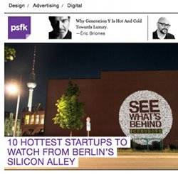 psfk.com: twago one of  the 10 hottest startups in Berlin