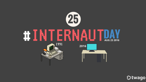 #InternautDay Happy 25th Birthday, Internet!