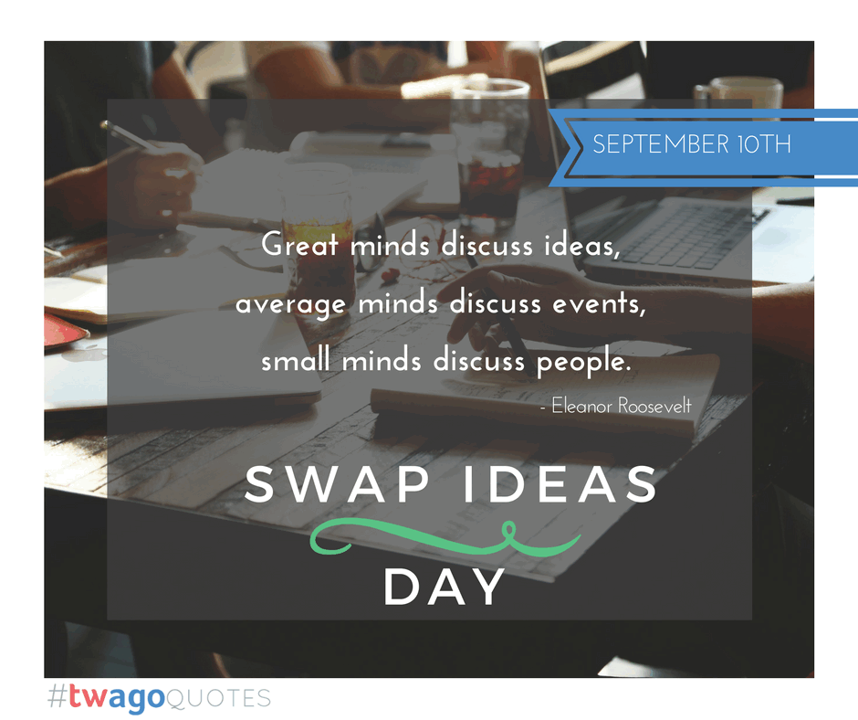Happy Swap Ideas Day 2016!