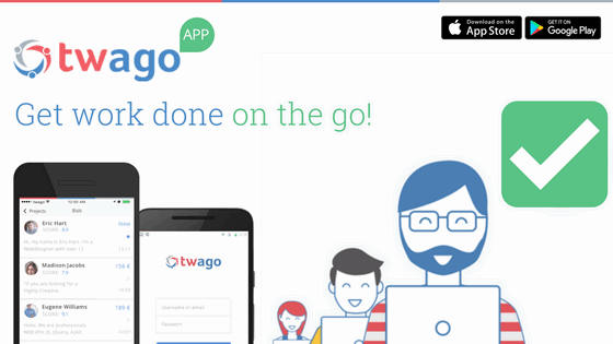 Introducing the official twago app!