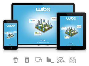 Wibo: responsive page with CSS3 animations