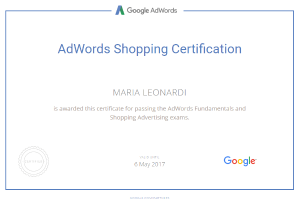 AdWords Shoppin Certification