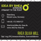 idea-by-rhea de - Innenarchitektur - und - Visualisierungen/Freihand u. 3D -  freelancer Ebersberg