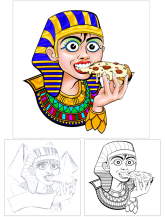 Illustration Cleopatra´s Pizza