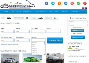 Classified Portal for Vehicles / Cars